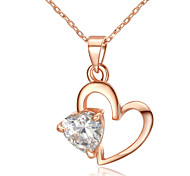 Women's Pendant Necklaces Crystal Simulated Diamond Alloy Heart Heart Jewelry Thank You Valentine