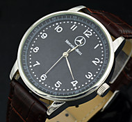 Men's Luxury Brand Dress Quartz Wristwatches PU Leather Strap Sports Clock Men (Assorted Colors)