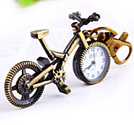 unisexe forme de loisirs de vélos cadran rond montre trousseau