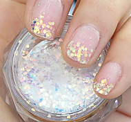 GradientRamp Hexagonal Glitter Tablets Nail Art Decorations
