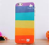 Modelo colorido día TPU suave para el iphone 6 / 6s