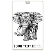 Personalized USB Flash Drive Elephant Design 16GB Card USB Flash Drive