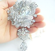Wedding Accessories Silver-tone Clear Rhinestone Crystal Bridal Brooch Wedding Deco Bridal Bouquet Wedding Jewelry