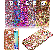 For Samsung Galaxy Case Frosted Case Back Cover Case Glitter Shine PU Leather Samsung S6 edge