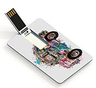 64gb coche de dibujos animados patrón de diseño de la tarjeta USB Flash Drive