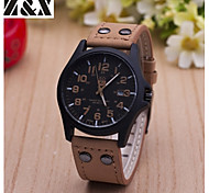 Men's Fashion Big Dial Quartz Analog Leather Band Sports Wrist Watch(Assorted Colors) Cool Watch Unique Watch