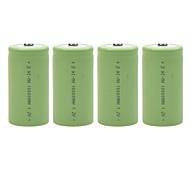10000mAh 1.2v d-tipo de bateria recarregável de NiMH (4pcs)