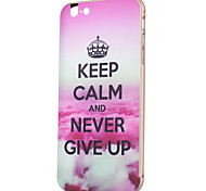 KARZEA™ Never Say No Pattern Back Hard PC Case Cover With Aluminum Metal Bumper Frame for iPhone6
