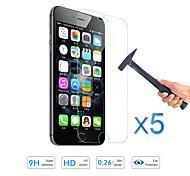 5pcs calidad caliente de la venta Protector de pantalla de cine de vidrio templado para el iphone de apple 6s / 6