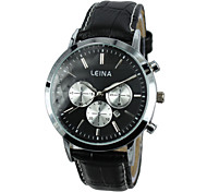 vestido ladies'wristwatch assistir relógio de couro real banda de pulso de quartzo (cores sortidas)