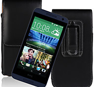 Europe and the United States fei PU Open Waist Hanged Mobile phone Set up and Down for HTC Desire 610