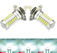 2 pezzi ding yao H7 / H4 8w 33x SMD 5730 850-950lm bianco freddo decorazione luce dc 12v