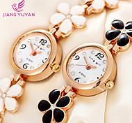 Popular Rose Gold Flower Band Bracelet Watch Women Fashion Casual Quartz Watches Ladies Rhinestone Dial Wristwatch