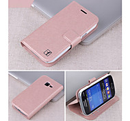 Smooth Silk Pattern with Card Bag PU Full Body Case for Samsung Galaxy Trend I699 /S7562i (Assorted Color)