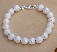 Fashion Simple Women's White Pearl  Brass Strand Bracelet(White)(1Pc)
