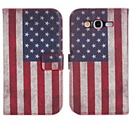 American Pattern Genuine Leather Wallet Case for Samsung Galaxy Grand Neo I9060