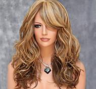 color de los cables de alta temperatura de Europa y América mezclando el pelo sintético y peluca de pelo largo