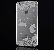 Rabbit Pattern Thin Trans Parent TPU Phone Case for iPhone 6/6S