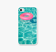 Swimming Laps Pattern PC Phone Case Back Cover for iPhone4/4S Case