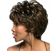 Europe And The United States With Middle-Aged And Old Short Wig Dark Brown Natural Curly Wigs