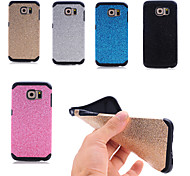 Special Design High quality Solid Color Silicone Glitter Back Cover for Samsung Galaxy S6