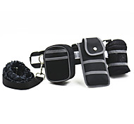 Fashionable Outdoor Hands Free Reflect Light Leash Including Waist Belt,Elastic Leash,Drinking Holder,Phone Holder