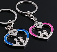 Alloy Wedding/Leisure Lovely Heart Couple Key Chains 1 Pair
