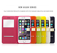 Ailun® 2nd Ultra Thin Magnetic Flip Cover Leather Window View Case with Stand for iPhone 6 Plus (Assorted Colors)