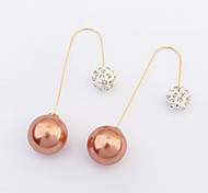 Refined and Elegant European Style Fashion Rhinestone Pearl Earrings