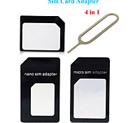 Pajiatu Nano SIM Card to Micro Or Standard SIM Card Adapter Set for iPhone 6, 6 Plus, iPhone 5S, iPhone4S (Color Random)