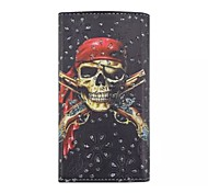 Diamond Pirate Skull Patterns Wallet Card General PU Leather Full Body Case for Gionee Elife E6