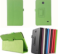 PU Leather Full Body Cases Cases with Stand Auto Sleep/Wake Up Solid Color For SamsungTab 4 8.0 T330