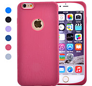 Solid Stripe Semicircle Hemming Ultra-thin Soft Silicone Material Protective Case for iPhone 6(Assorted Colors)