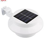 2pcs hry® 0.5w 3leds lámpara valla solar de luz de color blanco las luces solares