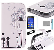 COCO FUN® Love Dandelion Pattern PU Leather Case with Film and USB Cable and Stylus for Samsung Galaxy Ace Style G310