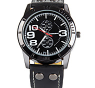 SHIWEIBAO Men Watch Digital Hour Marks The Circular Belt Quartz Watch