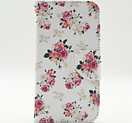 Floral Pattern The Inside Painted Cards Case for Samsung Galaxy S5