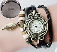 Personalized Gift Women's Casual Watch Genuine Leather Strap Engraved Watch