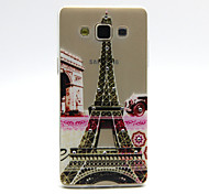 Tower Flowers Pattern TPU Relief Diamond Back Cover Case for Samsung Galaxy A5