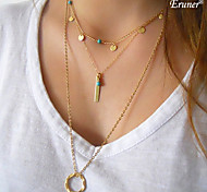 Euner® 2015 NEW Lasso Layered Hammer Loop Long Necklace