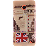 For Nokia Case IMD Case Back Cover Case City View Soft TPU Nokia Nokia Lumia 630