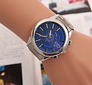 Men's Watches Europe And The United States Hot Double Scale Light Version Of half Grid Alloy Steel Swiss Quartz Watch