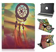 For Samsung Galaxy Case with Stand / Flip / 360° Rotation / Pattern Case Full Body Case Dream Catcher PU Leather Samsung Tab A 9.7