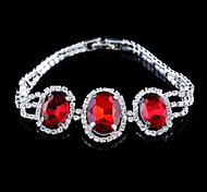Exquisite Crystal Set Drill Button Type Bracelet