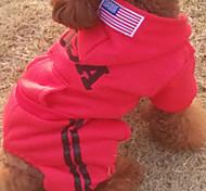 Hunde Kapuzenshirts Rot / Schwarz / Grau / Rose Winter Amerikaner / USA Cosplay