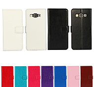YMX-Solid color Crystal Surface PU Leather Full Body Case with Card Slot for Samsung Galaxy A5 (Assorted Colors)