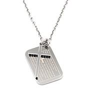 марочных мужской серебряный крест писание ожерелье нержавеющей стали 316l