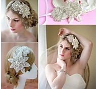 Women Flower Handmade Pearl/Crystal Tiaras/Headbands/Forehead Jewelry With Crystal/Pearl Wedding/Party Headpiece