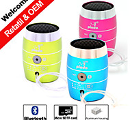 Coin Size Mini Portable Bluetooth Speaker Wireless for Iphone/Samsung/iPad/PC/MP3/MP4 Hands-free Aux Aluminum Housing