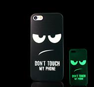 frase patrón de brillo en la cubierta oscura para el caso del iphone 4 / iphone 4 s